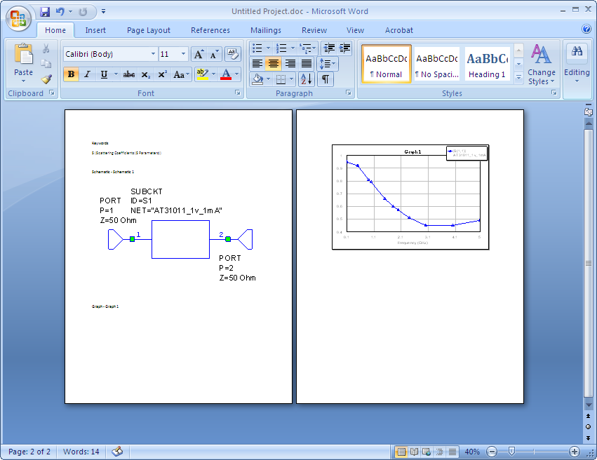 graphs and schematics which have open windows to word document below is example of resulting word document after you run the script