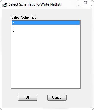 Write Netlist for Schematics - Help - AWR Knowledgebase