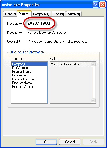 Using AWRDE With A Remote Desktop Connection, Terminal Server or ... XP 64bit users can download the newer Remote Desktop Connection Terminal  Services Client 6.0 from the Microsoft download website in order to get the  ...